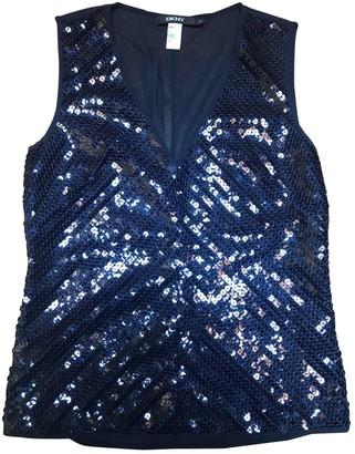 DKNY Blue Glitter Top for Women