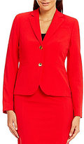 Calvin Klein Petite Luxe Stretch Suiting Two Button Jacket