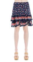 Max Studio Floral-Print Ruffled Skirt