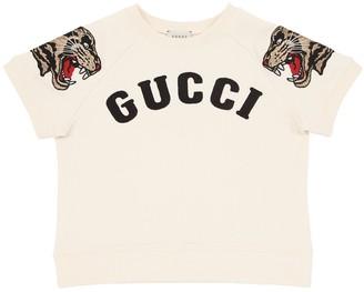Gucci Embroidered Logo Cotton Sweatshirt