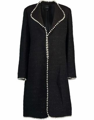 Giambattista Valli Black Long Sleeve Tweed Coat