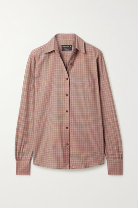 Purdey - Grouse Checked Cotton Shirt - Blush