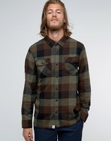 Vans Box Flannel Check Shirt In Green V00jogkef