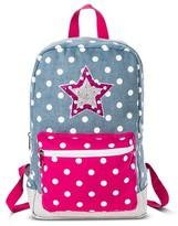 Stevies Girls' Polka Dot Backpack - Blue