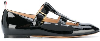Thom Browne Strappy Patent Ballerina Shoes