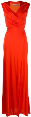 Amen Ruched-Front Evening Dress