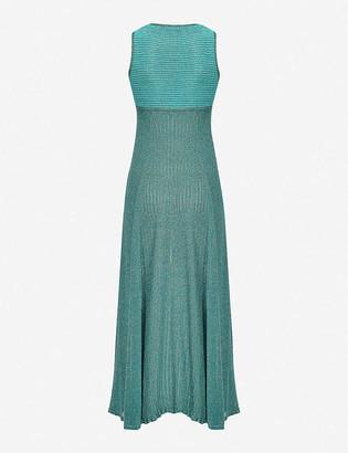 Pinko Thira metallic sleeveless woven midi dress