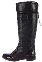 Dolce & Gabbana Patent Leather Knee-High Boots