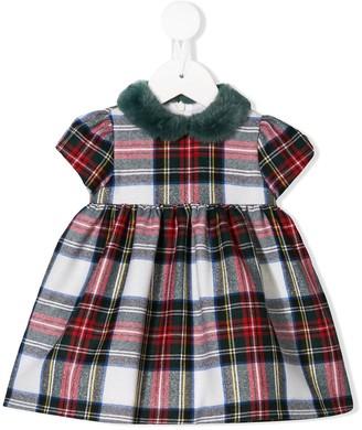 Il Gufo Tartan Short-Sleeved Dress