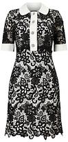 Phase Eight Vanna Lace Shirt Dress, Black/Ivory