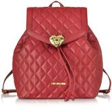 Love Moschino Heart Quilted Eco Leather Backpack
