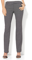 New York & Co. 7th Avenue Design Studio - Straight-Leg Pant - Signature - Universal Fit - Black & White