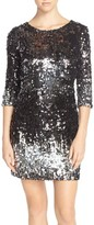 BB Dakota Women's 'Elise' Ombre Sequin Sheath Dress