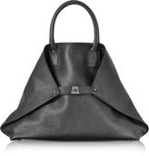 Akris Black Cervocalf Ai Medium Messenger Bag
