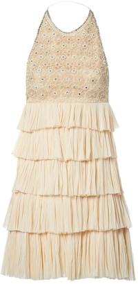 Dennis Basso Beige Silk Dress for Women