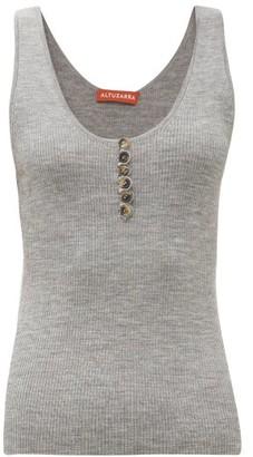 Altuzarra Flack Wool-blend Tank Top - Womens - Grey
