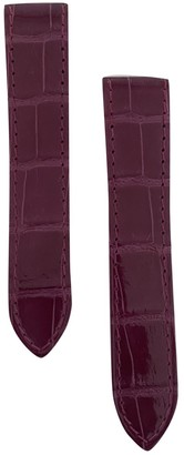 Cartier Santos 100 Purple Exotic leathers Watches