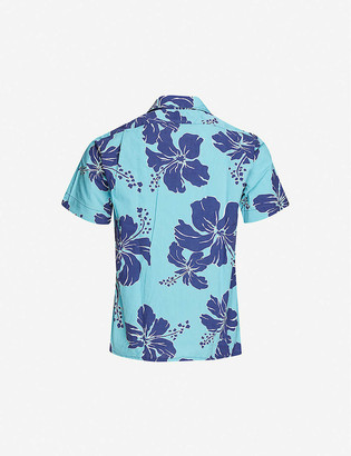 Polo Ralph Lauren Hawaiian-print slim-fit cotton shirt