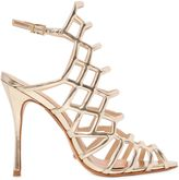 Schutz 110mm Juliana Metallic Leather Sandals