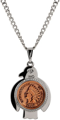 American Coin Treasures Thunderbird Indian CentCoin Necklace