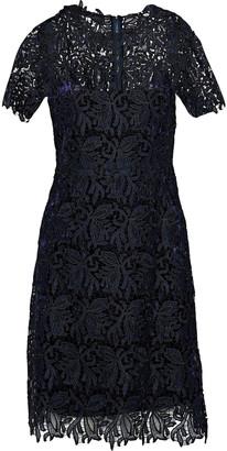 Elie Tahari Ophelia Metallic Guipure Lace Dress