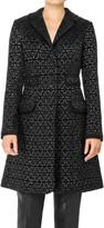 Max Studio Metallic Chenille Jacquard Coat