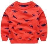 Anbaby Little Boys Children's Double-deck Cartoon Dinosaur Pullover Sweaters 110cm