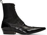 Haider Ackermann Black Brogue Boots