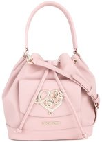 Love Moschino 'heart' plaque sack tote
