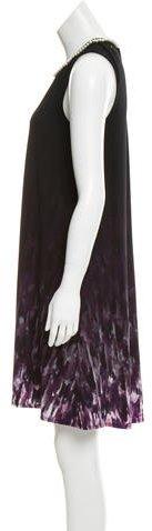 Karl Lagerfeld Pearl-Embellished Sleeveless Dress w/ Tags