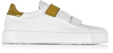 Jil Sander White and Laminated Leather Women's Sneaker