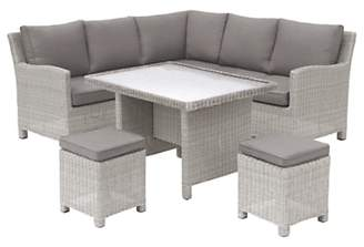 Kettler Palma Garden Mini Lounge / Dining Set With Glass Top Table
