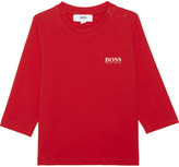 HUGO BOSS Logo cotton t-shirt 6-36 months