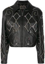 Versace gemstone biker jacket
