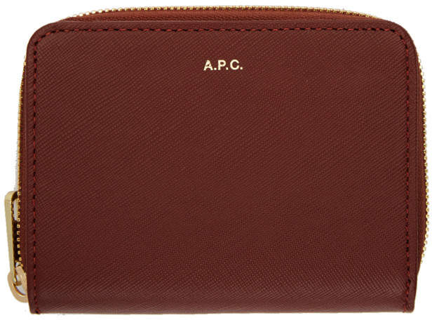 A.P.C. Burgundy Compact Wallet