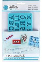 Martha Stewart Crafts Silicon Mold Alphabet