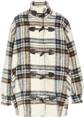 Veronica Beard Cael Oversized Plaid Wool-Blend Cocoon Coat
