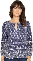 Lucky Brand Shibori Print Top Women's Long Sleeve Pullover
