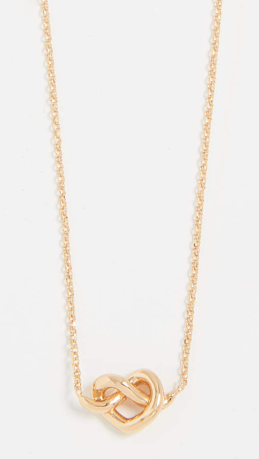 Kate Spade New York Loves Me Knot Mini Pendant Necklace