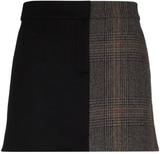 Tibi Mats houndstooth mini skirt