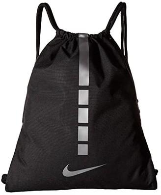 Nike Hoops Elite Gymsack - 2.0 (Black/Black/Metallic Cool Grey) Backpack Bags