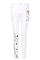 Quiz White Embroidered Skinny Jeans