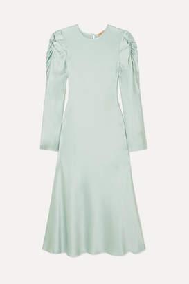 Maggie Marilyn Net Sustain Love Me Knot Satin-twill Maxi Dress - Mint