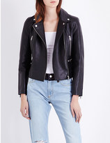 French Connection Lydia leather biker jacket