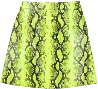 Off-White snake-look A-line skirt