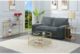 Cathleen Coffee Table Willa Arlo Interiors Table Base Color: Gold
