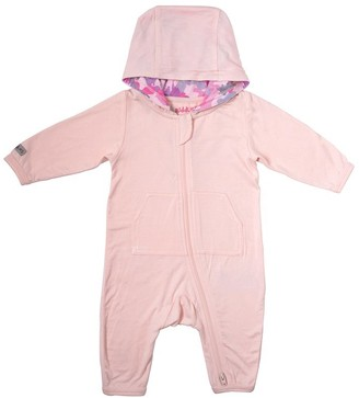 Juddlies Camoose Collection Baby Bamboo 2-Way Zipper Hooded Jumpsuit Newborn 0-10Ibs - Pink