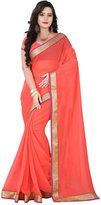 Shilp-Kala Remarkable Colored Border Worked Chiffon Saree 6021