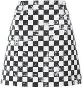 Marc Jacobs checkerboard print A-line skirt - women - Silk/Cotton/Wool - 4