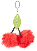 Charlotte Russe Cherry Faux Fur Ball Keychain